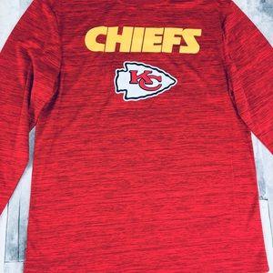 size 40 977d8 d56eb KC Chiefs long sleeve shirt Boys size 10/12 Large